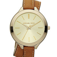Michael Kors Runway Double-Wrap Leather Watch