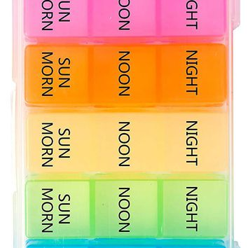 PuTwo 21 Partition Case 7-Day Pill Box Organizer Planner