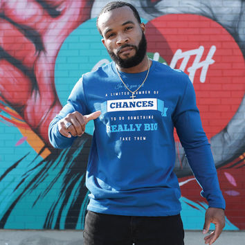 Do Something Big Fitted Long Sleeve Tee