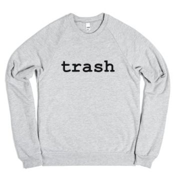 Trash Sweatshirt-Unisex Heather Grey Sweatshirt