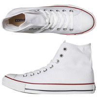 CONVERSE WOMENS CHUCK TAYLOR ALL STAR HI TOP SHOE - OPTICAL WHITE