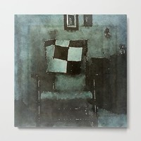The Old Rocking Chair Metal Print by Artistic Home Accessories