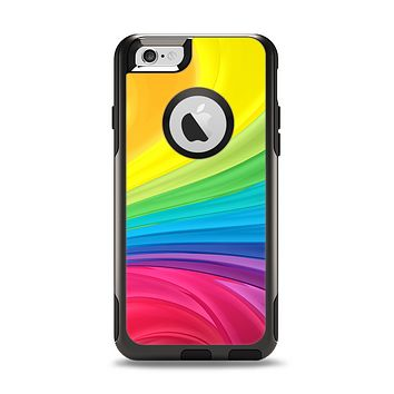 The Neon Colored Swirled Apple iPhone 6 Otterbox Commuter Case Skin Set