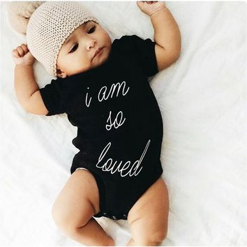 I Am So Loved Printed Baby Romper