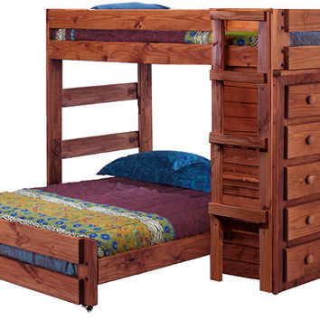 Henderson Extra Long Twin over Full Storage Loft Bed