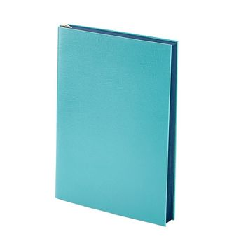 Millennial Journal  Bermuda Blue Embossed Leather