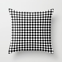 Black and white art deco diamonds Throw Pillow by Laureenr