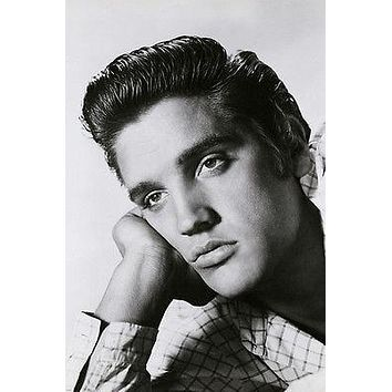 ELVIS PRESLEY LOVE ME TENDER head shot poster BROODING collectible 24X36