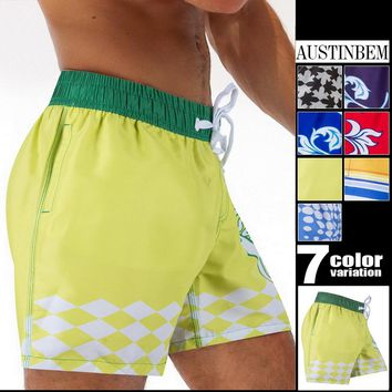 Austinbem Mens Shorts Surf Board Shorts Summer Sport Beach Homme Bermuda Short Pant  Men's Swimming Short 30204