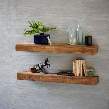 Reclaimed Pine Floating Shelf