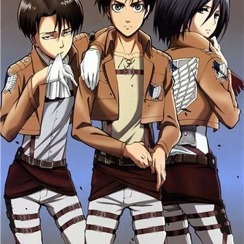 Cool Attack on Titan Fashion Kids Anime Wallpaper Custom Canvas Arts  Poster Levi Warrior Wall Stickers Home Decor #PN#158# AT_90_11