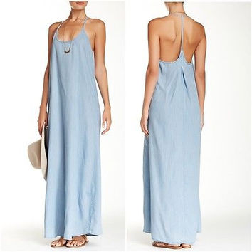 Love Stick Chambray Maxi Dress