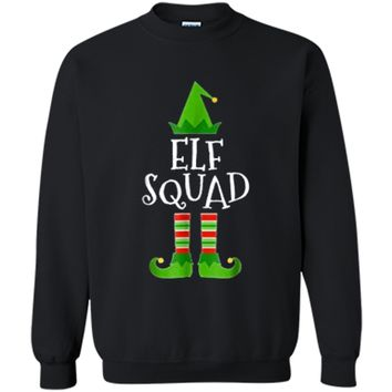 Elf Squad Matching Family Group Christmas Printed Crewneck Pullover Sweatshirt