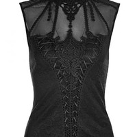 Punk Rave Love Lace Top | Attitude Clothing