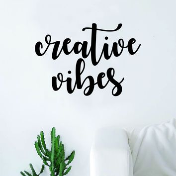 Creative Vibes Wall Decal Sticker Vinyl Art Decor Room Bedroom Inspirational Quote