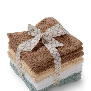 Set of 12 Cotton Washcloths