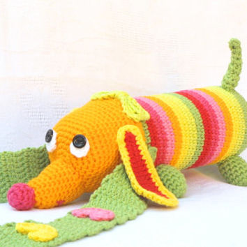 Crochet Dachshund, Kids Water Bottle Cozy, Dog  Water Cozy, Water Bottle Cozy Crochet Pattern,PDF pattern
