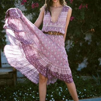 Lavender Hippie Dress