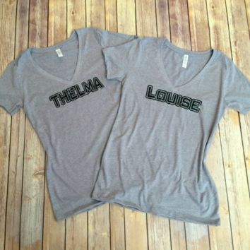 Thema & Louise, V Neck Tee Shirt
