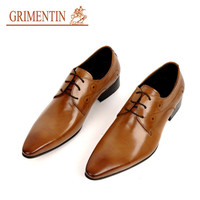 GRIMENTIN fashion Italian luxury mens dress shoes oxford black brown 2016 vintage genuine leather men shoes flats wedding office