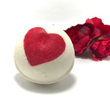 Rose Love Bath Bomb with a Surprise Inside