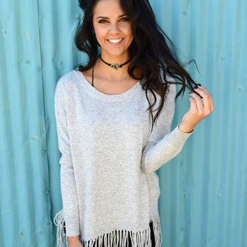 Just Fringe Pullover Sweater