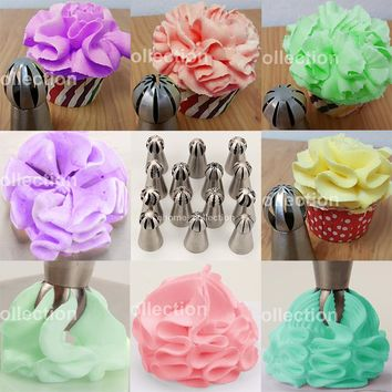 1PC Russian Fondant Cupcake Buttercream Baking Tool Sphere Ball Shape Cream Stainless Steel Icing Piping Nozzles Pastry Tips