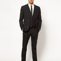 ASOS Slim Fit Suit in Black at asos.com