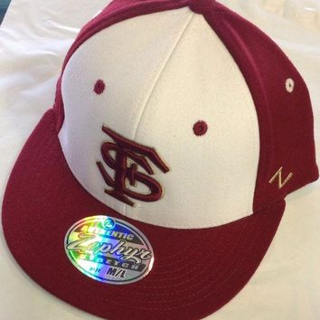 V0NE05TF NCAA Florida State Seminoles Zephyrs White/Garnet Flat-Bill Hat