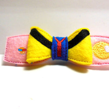 Black Cauldron Princess inspired 3D felt bow felt clippie physical item made to order