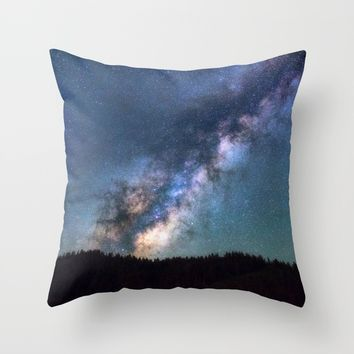 Milky Way Throw Pillow by Gallery One