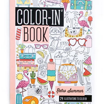 International Arrivals Retro Summer Travel Size Color-in' Book
