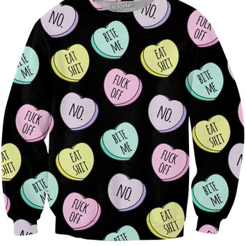 Mean Candy Hearts Crewneck Sweatshirt