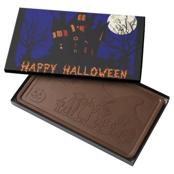 Happy Halloween Haunted House Milk Chocolate Bar