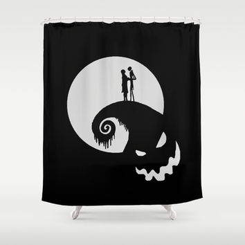 Nightmare Jack Skellington Shower Curtain by Aleha