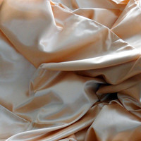 VINTAGE SILK CHARMEUSE/10 Yards of Vintage Peach Coloured Silk Charmeuse/39 Inches Wide by 10 Yards Classic Vintage Peach Charmeuse Fabric