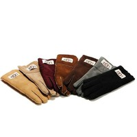 UGG Gloves Winter Woman Men Mittens Fur Velvet Gloves