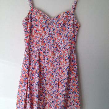 90's Floral baby doll dress.