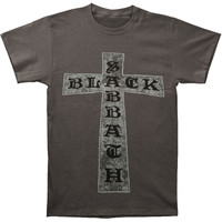 Black Sabbath Men's  Cross T-shirt Charcoal