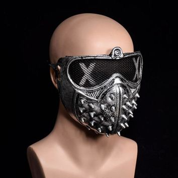 3pcs Masquerade Ball Halloween Party Fancy Dress Costume Rivet Mask Unisex (black+silver+gold)  US.