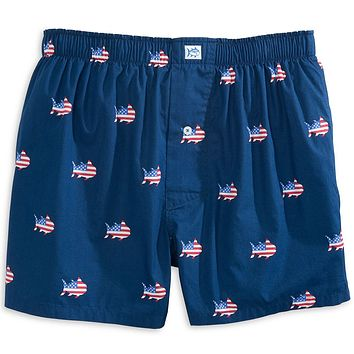Oh Say Can You Sea Boxer in Yacht Blue by Southern Tide