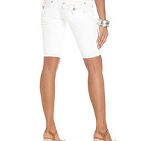 Miss Me Jeans, Denim Bermuda Shorts, White Wash - Miss Me Jeans - Women - Macy's