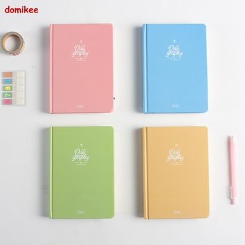 2017 New cute cartoon school student diary notebook stationery,candy personal 365 daily planner agenda organizer notebook A5