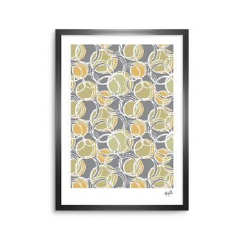 "Julia Grifol ""Simple Circles in Grey"" Framed Art Print"
