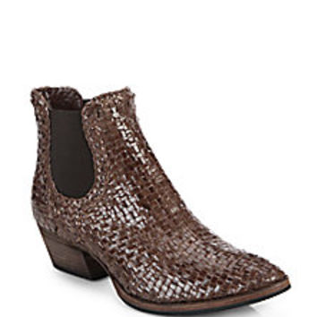 Aquatalia by Marvin K - Desire Woven Leather Boots - Saks Fifth Avenue Mobile