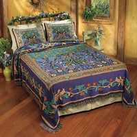 Tree of Life Bedspread - New Age, Spiritual Gifts, Yoga, Wicca, Gothic, Reiki, Celtic, Crystal, Tarot at Pyramid Collection