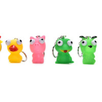 Animal Vent Toy Anti Stress Ball Novelty Doll Keychain