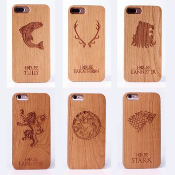 Game of Thrones Laser Engraved Real Wood Phone Cases