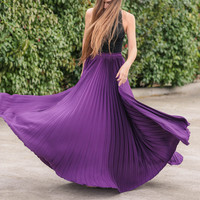 A Night To Remember Plum Maxi Skirt