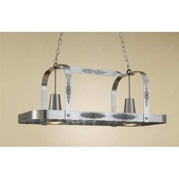 Hi-Lite H22Y-D-11 Monterey Satin Steel Lighted Pot Rack